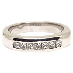0.70 Carat White Gold Diamond Memory Eternity Ring