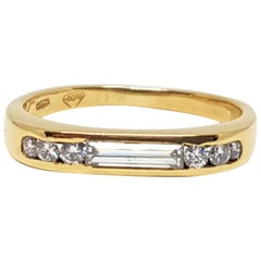 0.70 Carat Yellow Gold Diamond Memory Ring