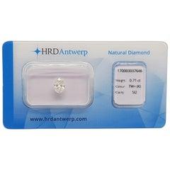 0.71 Carat HRD Certificate White Oval Cut Diamond