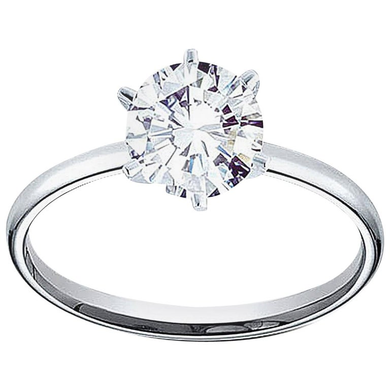 567b549d1 0.71 Carat Round Brilliant Cut G I2 Diamond in 14 Karat White Gold Setting  For Sale