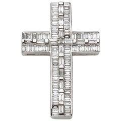 0.72 Carat Diamond Cross Pendant