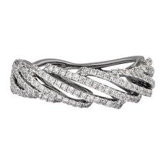 0.72 Carat Diamond Ring in 18 Karat Black Gold