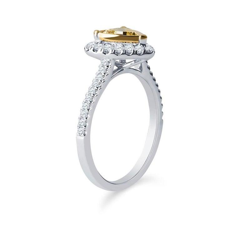 0.73 Intense Yellow Heart Shaped Diamond(GIA) Engagement Ring, 0.43 CTW Diamonds 2