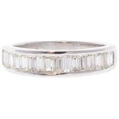0.75 Carat Baguette Diamond in 14 Karat White Gold