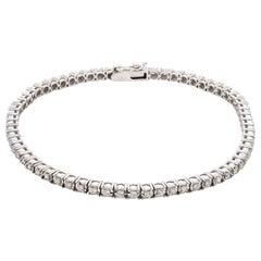 0.75 Carat Diamond 18 Karat White Gold Tennis Bracelet