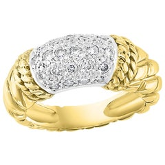 0.75 Carat Diamond Cocktail 18 Karat Yellow Gold Ring