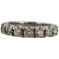 0.75 Carat Diamond Eternity / Wedding Ring, 18 Carat White Gold