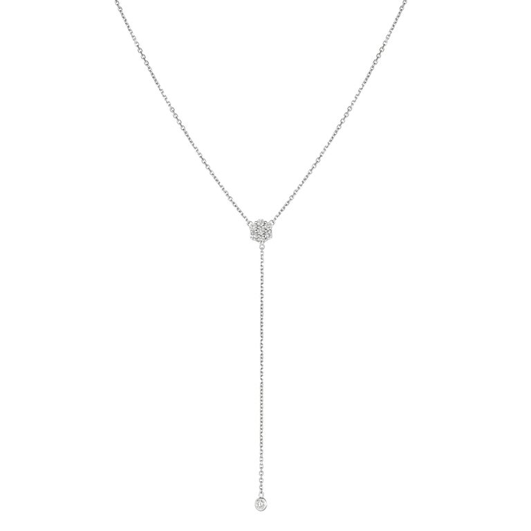 0.75 Carat Diamond Flower Bezel Drop Necklace G SI 14K Yellow Gold 18 inches      100% Natural Diamonds, Not Enhanced in any way Round Cut Diamond Necklace     0.75CT     G-H      SI       14K Yellow Gold, Bezel & Pave style,  2.8 gram     3 5/8