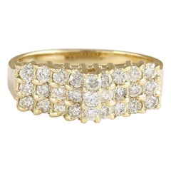 0.75 Carat Natural Diamond 18 Karat Yellow Gold Ring