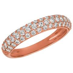 0.75 Carat Natural Diamond Ring Band G SI 14 Karat Rose Gold