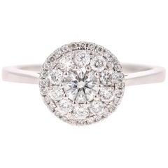 0.75 Carat Round Invisible Diamond Engagement Ring
