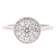 0.75 Carat Round Invisible Diamond Engagement Ring