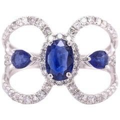 0.75 Carat Kyanite Diamond Ring