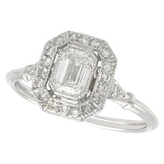 0.77 Carat Diamond and Platinum Engagement Ring