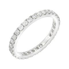 0.77 Carat Diamond Platinum Eternity Ring
