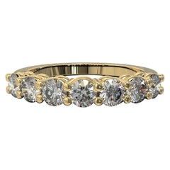0.77 Carat Round Brilliant Cut Diamond Bridal Ring in 18 Carat Yellow Gold