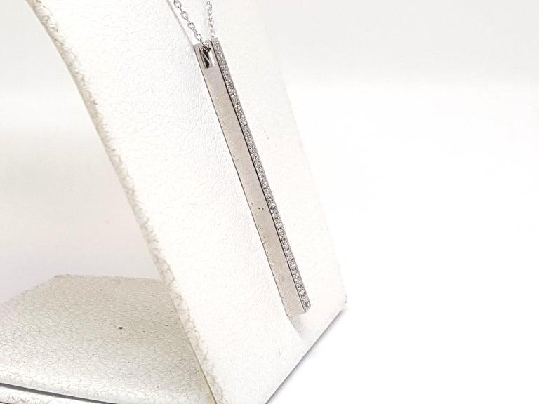 Women's 0.77 Carat White Gold Necklace Diamond Pendant For Sale