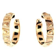 0.78 Carat 18 Karat Rose Gold Theodora Diamond Hoop Earrings