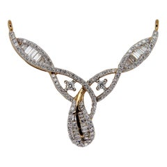 0.78 Carat Diamond Pendant in 18 Karat Gold