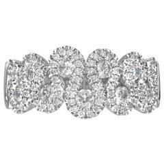 0.79 Carat Diamond 14 Karat White Gold Fashion Ring