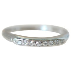 .08 Carat Platinum Diamond 8-Stone Wedding Band, circa 1930s