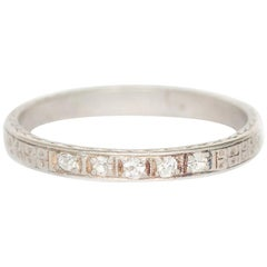 .08 Total Carat Weight Antique Single Cut Diamond Wedding Band