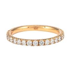 0.80 Carat Diamond Eternity Band 18 Karat Rose Gold