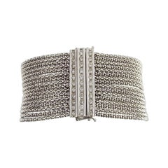 0.80 Carat Diamond Multi Strand Link Bracelet in 18 Carat White Gold