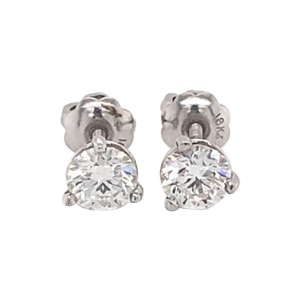 0.80 Carat Diamond Stud Earrings