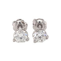 0.80 Carat Diamond Stud Earrings