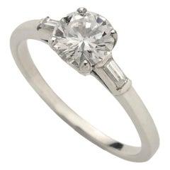 0.81 Carat Single Stone Diamond Platinum Ring