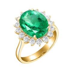 0.82 Carat Diamond Ring 18 Karat Yellow Gold
