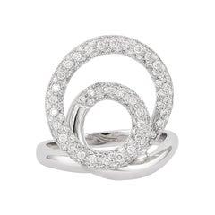 0.82 Carat Diamond Ring in 18 Karat White Gold