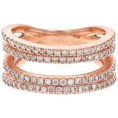 0.83 Carat Diamond Cocktail Ring 14 Karat Rose Gold