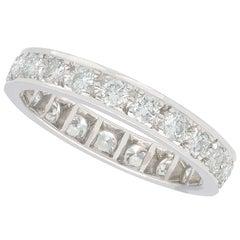 0.84 Carat Diamond Full Eternity Ring in White Gold