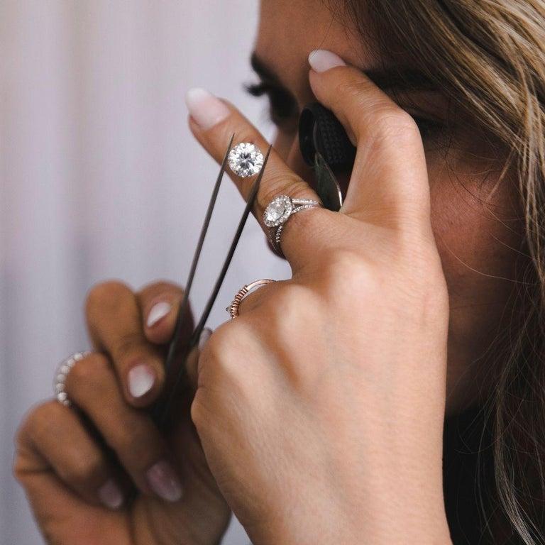 0.84 Carat Diamond Large Halo Earrings in 14 Karat Yellow Gold, Shlomit Rogel For Sale 6
