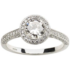 0.85 Carat Diamond Halo Ring