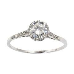 0.87 Carat Diamond Platinum Ring