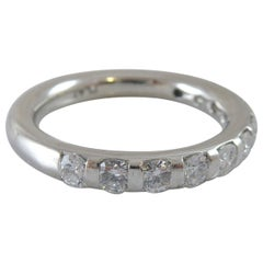 0.88 Carat Diamond Set Wedding Band, Platinum