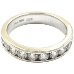 0.88 Carat Diamond Wedding Band 14 Karat White Gold