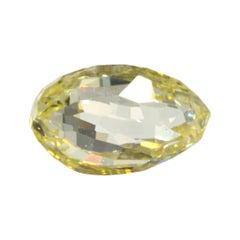 0.89 Carat Briolette GIA Certified VS2 Fancy Intense Yellow Diamond