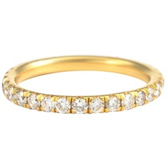 0.90 Carat Diamond Eternity Band 18 Karat Yellow Gold