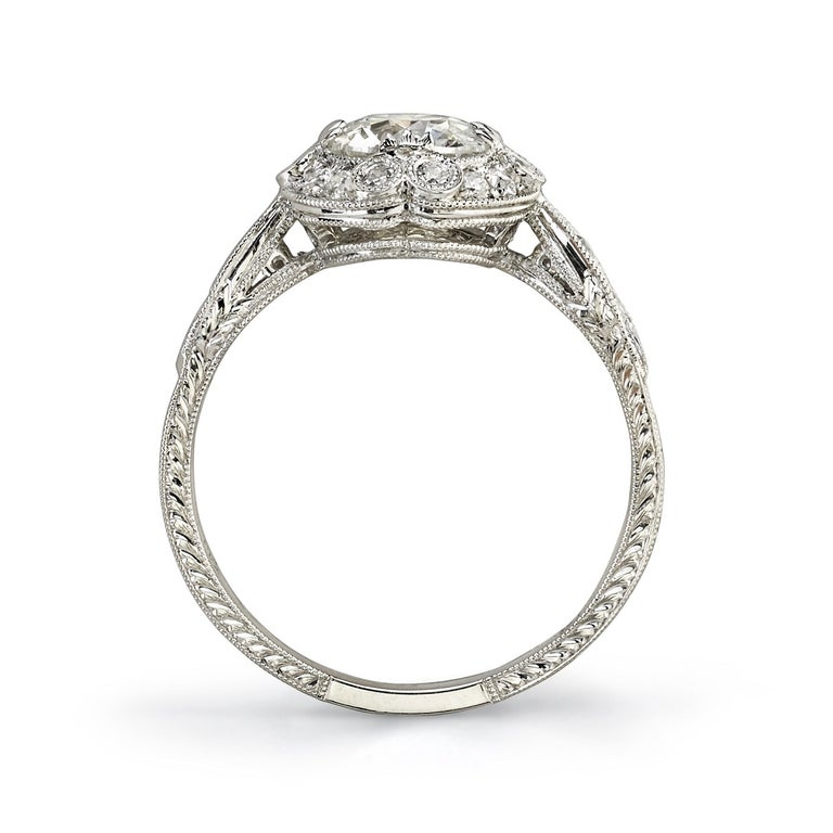 Edwardian 0.90 Carat Old European Cut Diamond Set in a Platinum Engagement Ring For Sale