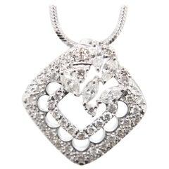 0.92 Carat Diamond Pendant in 18 Karat Gold