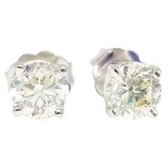 0.94 Carat Natural Diamond Round Studs