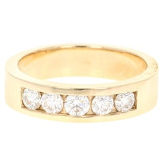 0.95 Carat Men's Wedding Band 14 Karat Yellow Gold