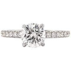 0.97 Carat F VS2 GIA Engagement Ring