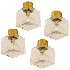 1 0f the 4 J.T. Kalmar Cube Flushmount Lamp or Wall Sconces, 1960s