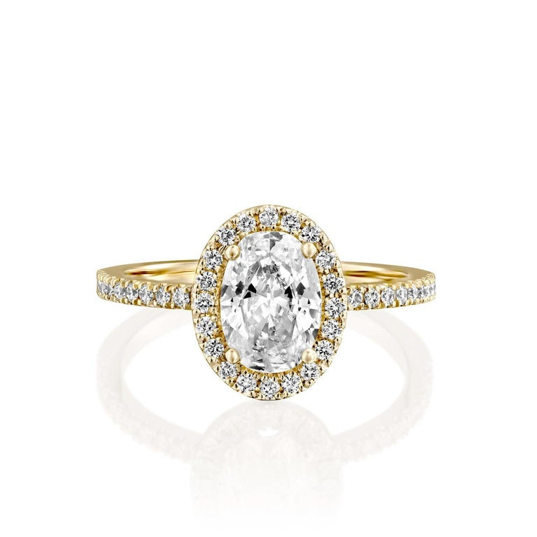 Oval Diamond Engagement Ring, 1 1/2 Carat Oval Engagement Ring, Oval Halo Diamond Ring, Oval Solitaire Diamond Ring, Rose Gold Ring    Main Stone Name: Natural Diamond  Main Stone Weight: 1.00 ct.  Main Stone Clarity: SI1  Main Stone Color: G  Main