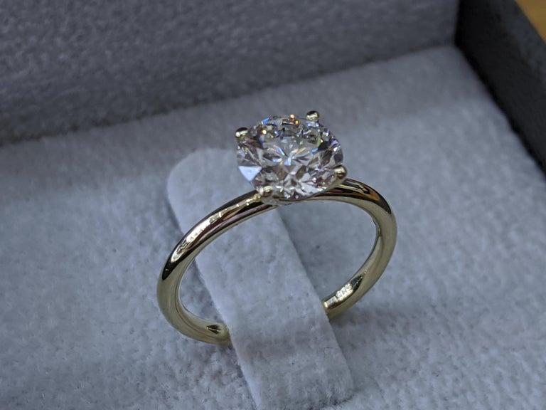 VS1 Diamond Ring, 1.50 Carat Engagement Ring, VS1 Solitaire Ring, 1.50ct Diamond Engagement Ring, Promise Ring, Natural Diamond Yellow Gold      Main Stone Name: Diamond  Main Stone Weight: 1.50 ct.  Main Stone Clarity: VS1  Main Stone Color: H